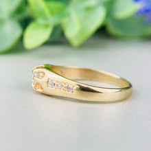 Load image into Gallery viewer, Vintage diamond belcher ring in 14k yellow gold