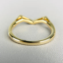 Load image into Gallery viewer, Diamond chevron ring in yellow gold
