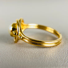 Load image into Gallery viewer, Pearl ring by Georg Jensen in yellow gold