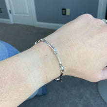 Load image into Gallery viewer, CLEARANCE!  White gold bracelet in 10k gold