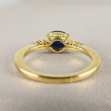 Load image into Gallery viewer, Sapphire and diamond ring in yellow gold