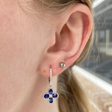 Load image into Gallery viewer, Sapphire and diamond earrings in white gold