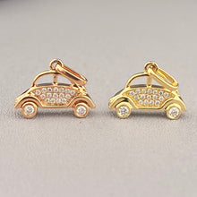 Load image into Gallery viewer, Diamond studded 'bug' car in 18k gold
