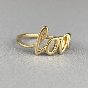 Yellow gold 'love' ring