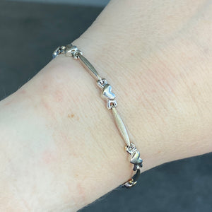 CLEARANCE!  White gold bracelet in 10k gold