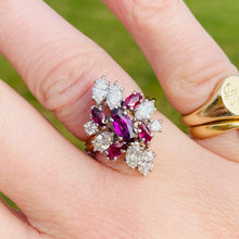Load image into Gallery viewer, Spectacular ruby and diamond cocktail ring