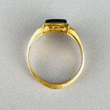 Load image into Gallery viewer, Hematite intaglio in 10k yellow gold