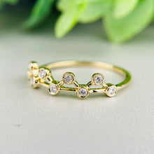 Load image into Gallery viewer, Diamond zig zag band in 14k yellow gold