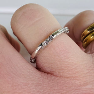 Diamond station band in 14k white gold by Effy