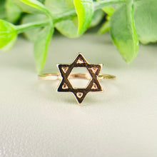 Load image into Gallery viewer, FINAL SALE! Star of David ring in rose gold