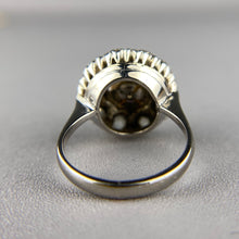 Load image into Gallery viewer, Pearl and diamond ring in white gold