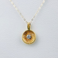 Load image into Gallery viewer, Vintage diamond necklace in 14k yellow gold