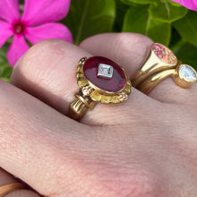 Load image into Gallery viewer, Vintage lab ruby and diamond ring