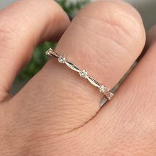 Load image into Gallery viewer, Diamond station band in 14k white gold
