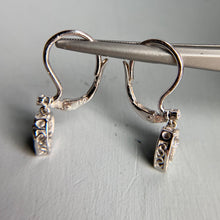 Load image into Gallery viewer, 18k white gold diamond heart earrings