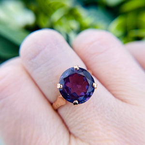 Vintage Color change sapphire ring in rose gold