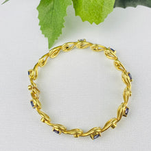 Load image into Gallery viewer, Sapphire and diamond bracelet in 18k yellow gold