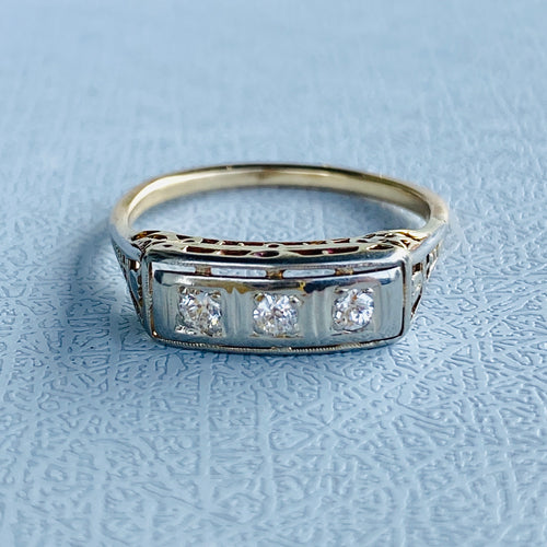 PAYMENT 3 OF 3: Vintage diamond 3 stone band