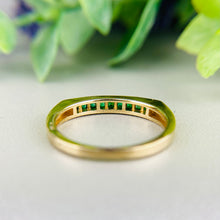 Load image into Gallery viewer, Emerald band in 14k yellow gold