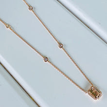 Load image into Gallery viewer, Morganite and diamond necklace in 14k rose gold by Effy