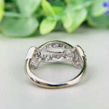 Load image into Gallery viewer, Vintage single cut diamond ring in 14k white gold