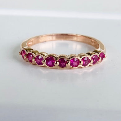 Ruby band in 14k rose gold by Effy