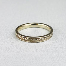 Load image into Gallery viewer, Vintage 14k white gold patterned band