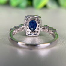 Load image into Gallery viewer, Sapphire and diamond ring in 14k white gold