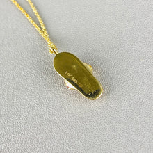 Load image into Gallery viewer, 14k yellow gold flip flop necklace