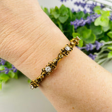 Load image into Gallery viewer, Vintage diamond bangle in 14k yellow gold