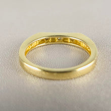 Load image into Gallery viewer, Diamond bar ring in yellow gold