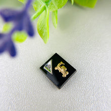 Load image into Gallery viewer, Loose onyx diamond and initial stones