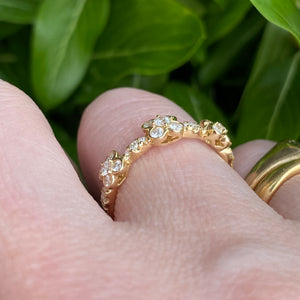 CLEARANCE! Diamond band in yellow gold