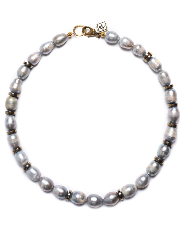 Arezzo Grey Pearl Necklace
