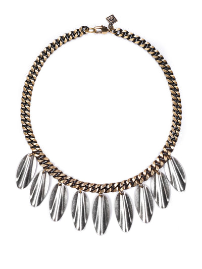 Fredrick Prince Arezzo Mixed Metal Fringe Necklace