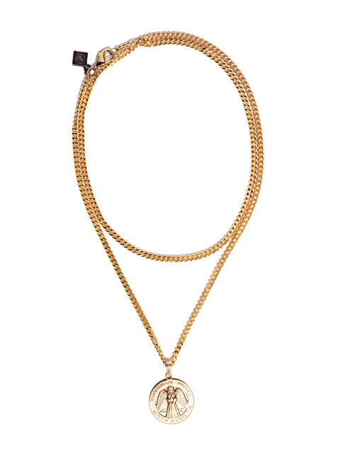 Fredrick Prince 14kt Gold Plated Guardian Angel Necklace