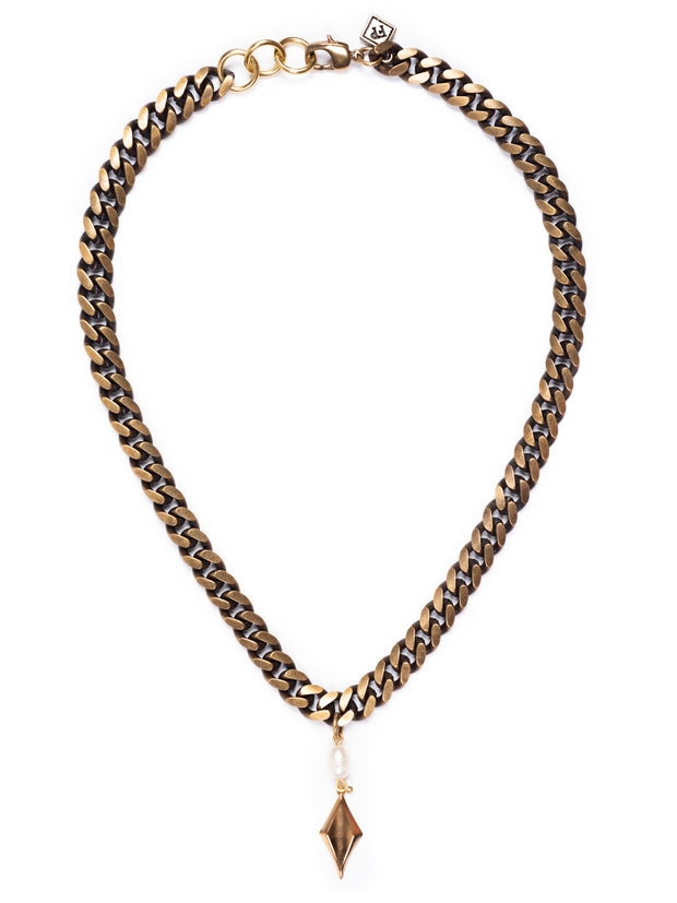 Fredrick Prince Miami Cuban Link Necklace with Diamond Pendant