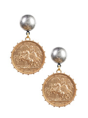 Athena Medallion Earrings
