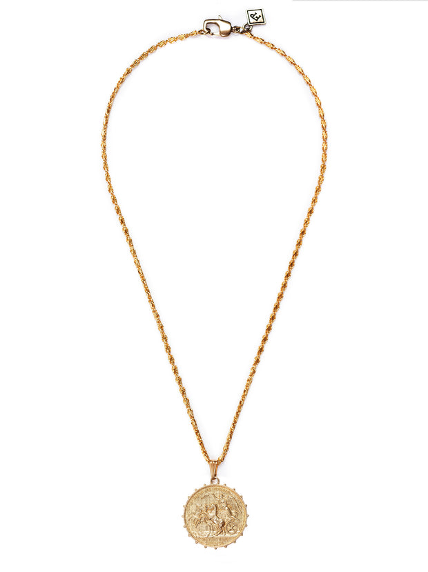 Fredrick Prince Athena Medallion Necklace