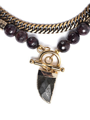 Amalfi Garnet Toggle Necklace with Labradorite Pendant Set/2