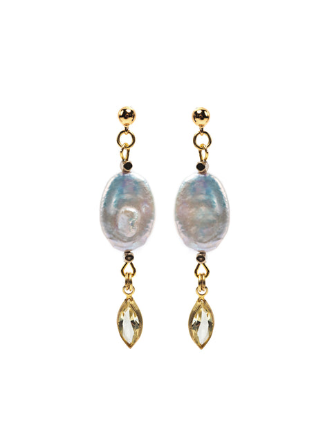 Fredrick Prince Geneva Oval Pearl Earrings