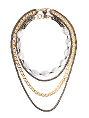 Fredrick Prince Geneva Oval Pearl Statement Necklace Set/2