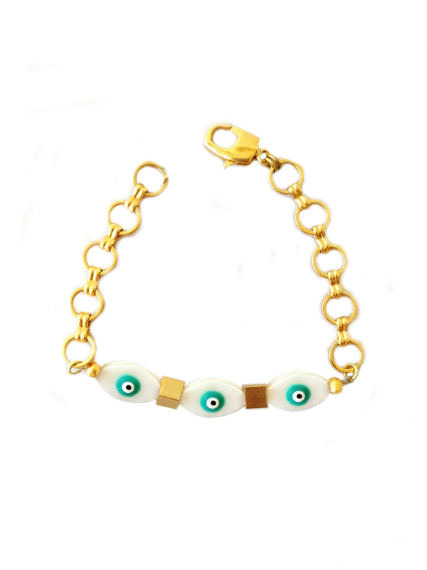 Gold Sunset Evile Eye Bracelet
