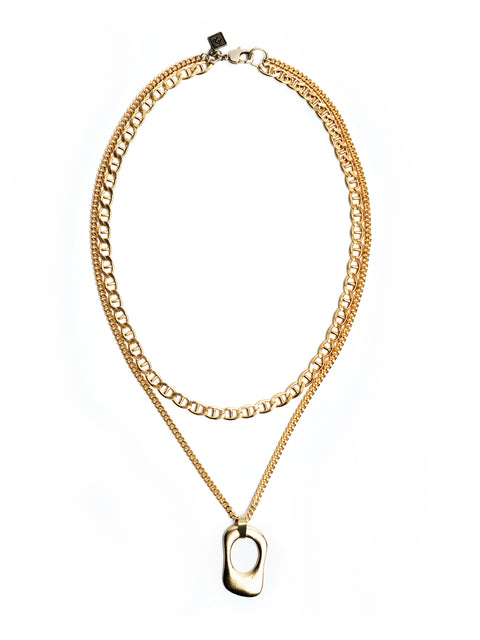 Fredrick Prince Saint-Tropez 14kt Gold Layered Necklace Set