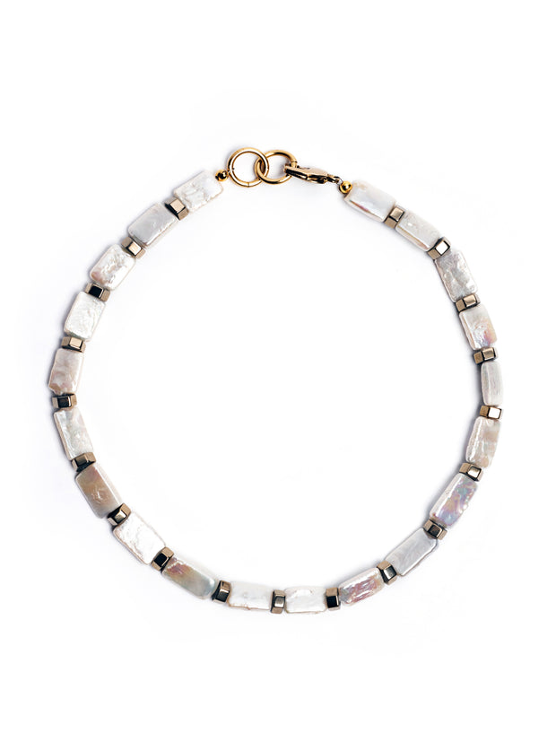 Saint-Tropez Rectangle Pearl Statement Necklace Set