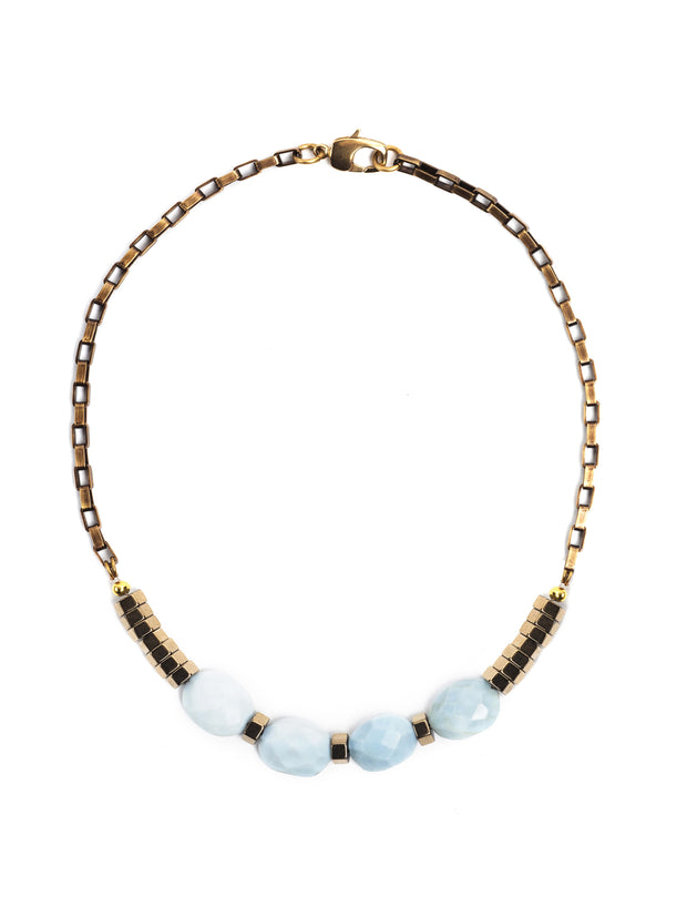 Hermosa Beach Blue Opal Necklace Set /2