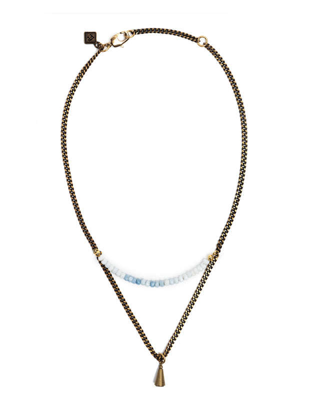 Fredrick Prince Hermosa Beach Blue Opal Necklace Set/2