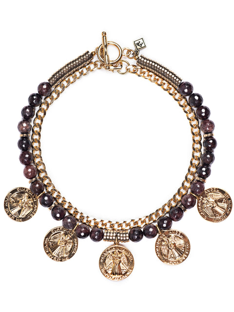 Fredrick Prince La Scala Garnet Statement Necklace