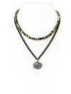 Fredrick Prince Historical Sterling Silver Series 3 of 5: Native Indian Chief Tiered Necklace