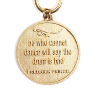 UNISEX Lioness Proverb Medallion Necklace